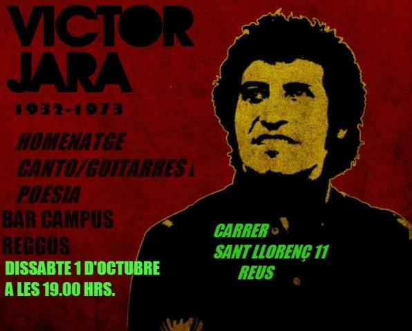 Música i poesia en homenatge a Víctor Jara el dissabte 1 d'octubre al Bar Campus