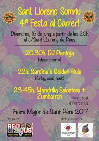 Festa-Concert al carrer Sant Llorenç de Reus el divendres 16 de juny