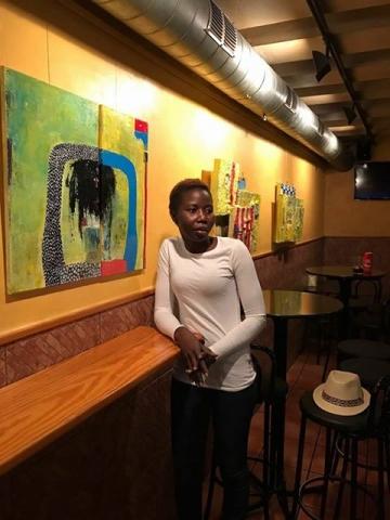 'Qui soc jo', exposició de pintures de la senegalesa Marie Ngom al Bar Campus durant el mes de juny