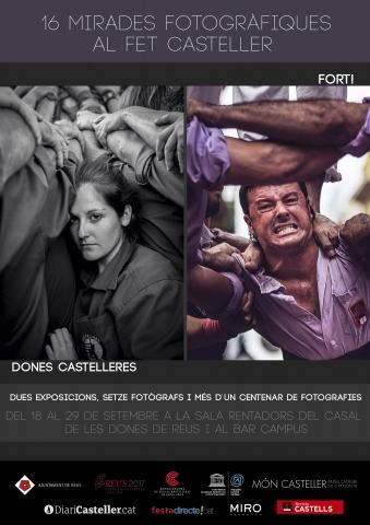 Les exposicions 'Dones Castelleres' i 'Fort' arriben a Reus, del 18 al 29 de setembre al Casal de les Dones i al Bar Campus