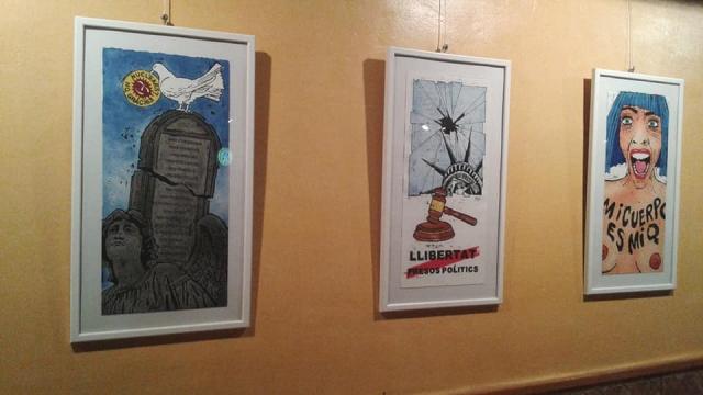 'Crits', exposició de Nené (Pérez Oliván) al Bar Campus