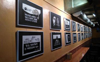 'Aforismes', exposició de dibuixos de Nené al Bar Campus