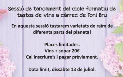 Tast d'estiu de vins i sopar el 15 de juliol al Bar Campus