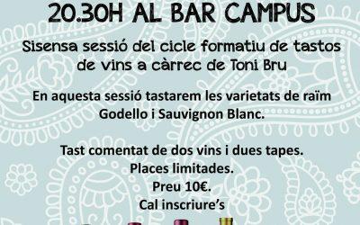 6è Tast de Vins Varietals al Bar Campus el dimarts 17 de setembre