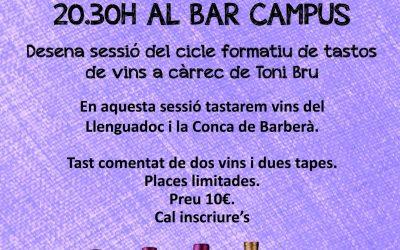 10è Tast de Vins al Bar Campus el dilluns 9 de març